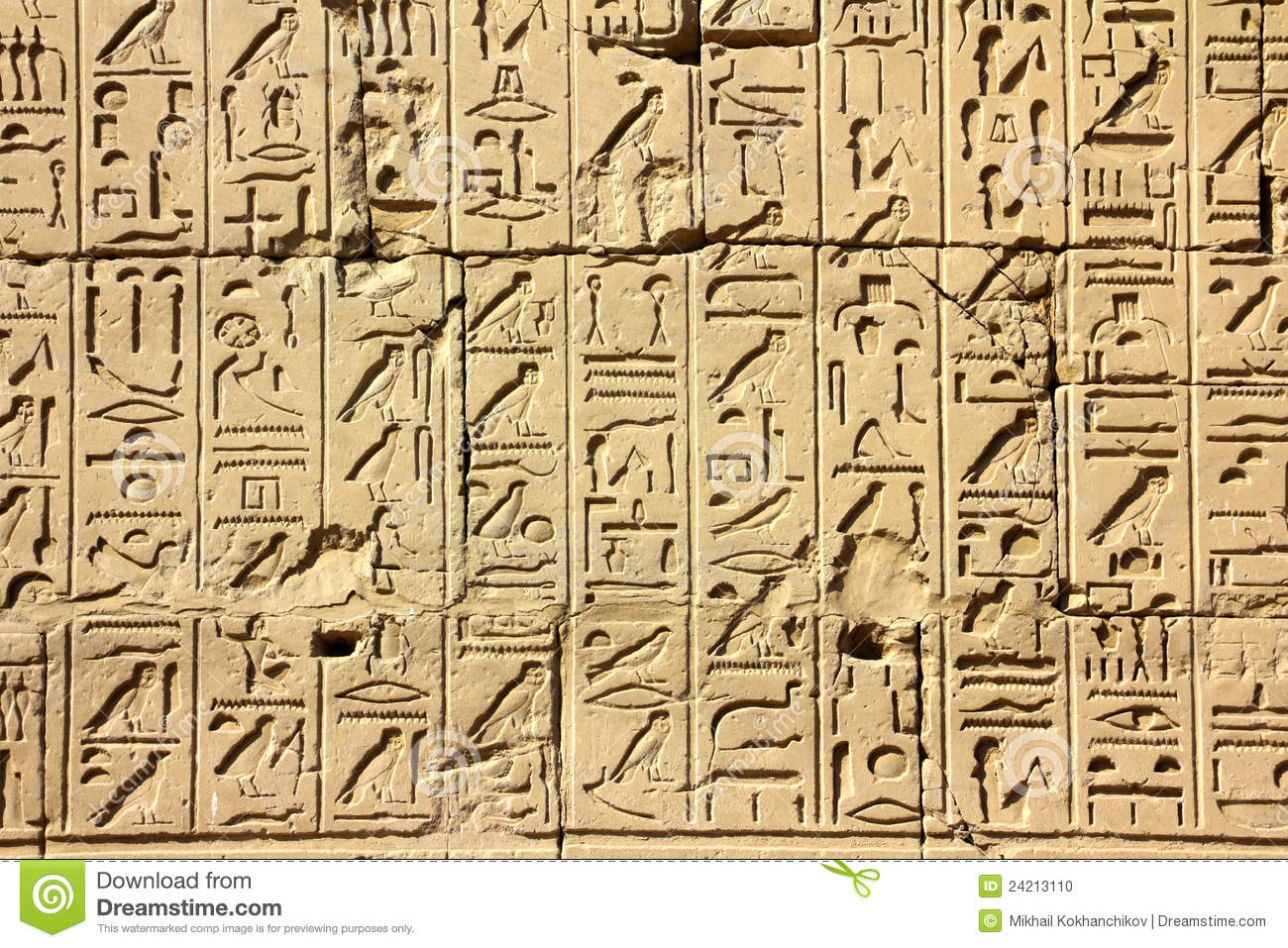 Ancient egypt and hieroglyphic writing
