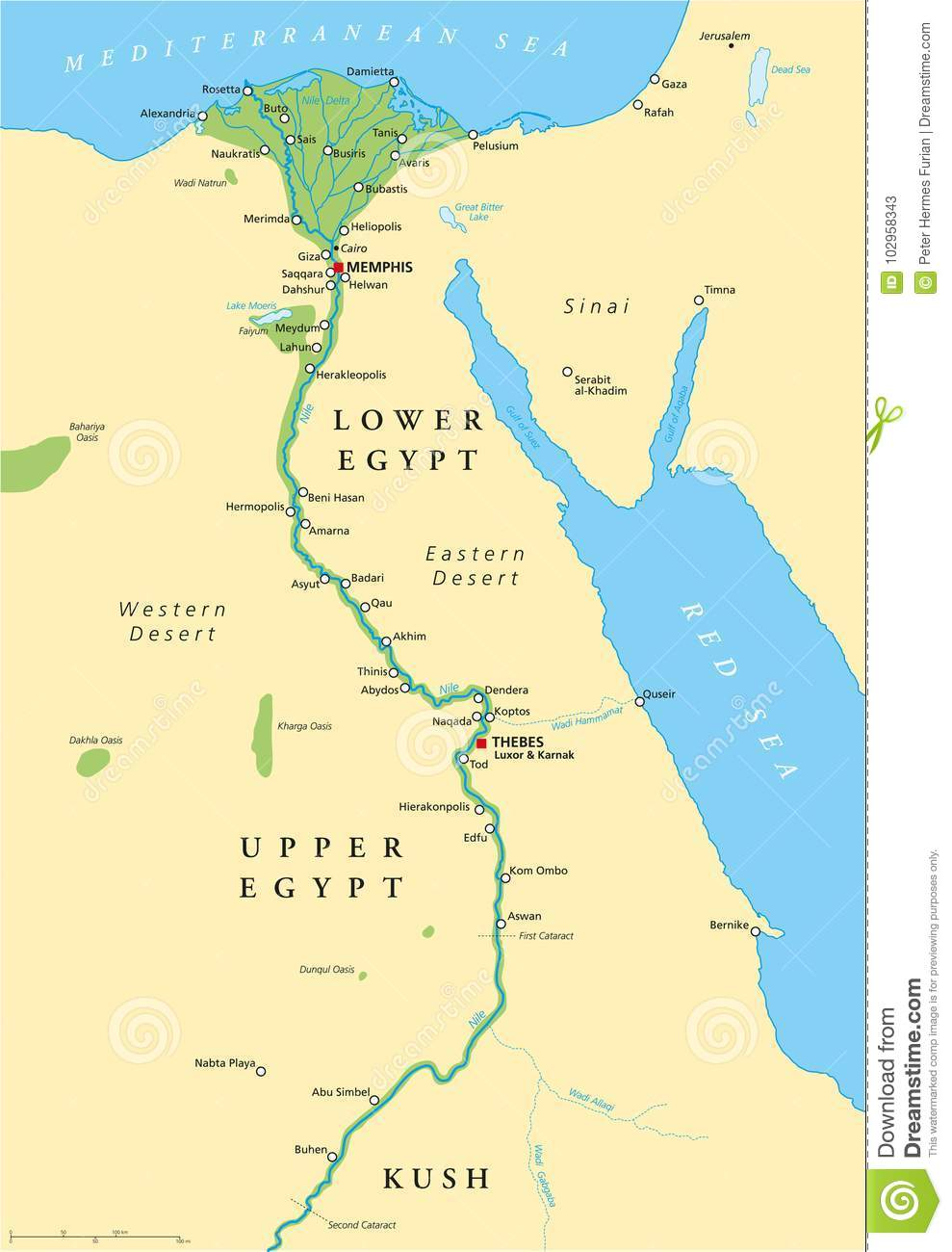 This is a picture of Gutsy Ancient Egypt Map Printable