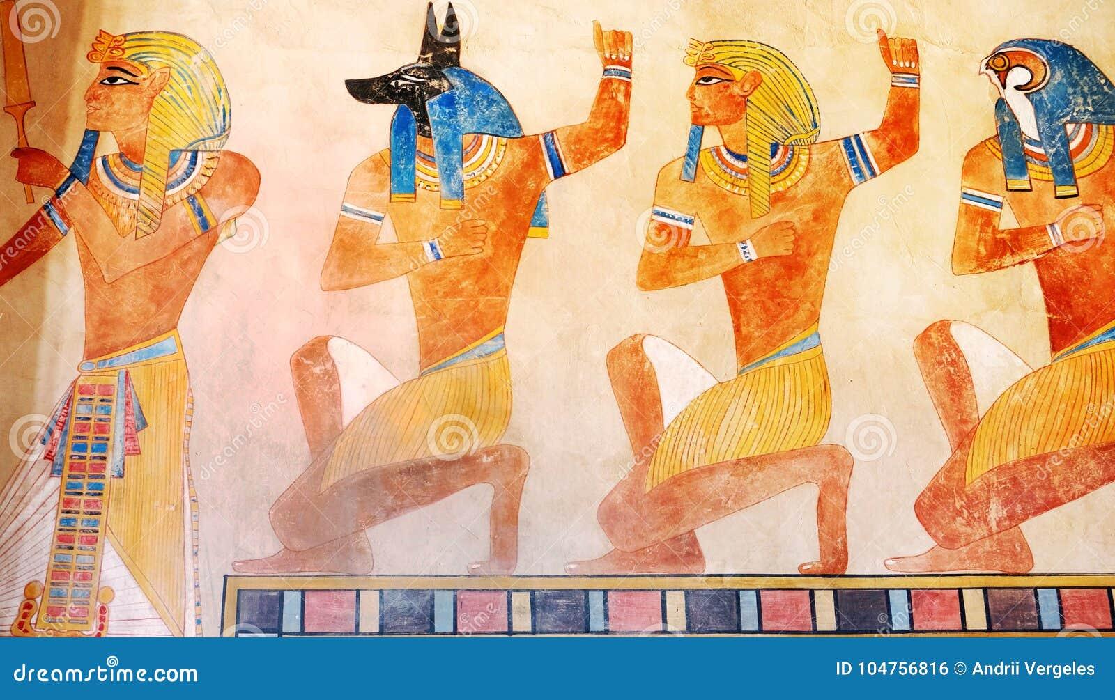 Ancient egypt scene mythology egyptian gods and pharaohs hier download ancient egypt scene mythology egyptian gods and pharaohs hier stock illustration publicscrutiny Image collections