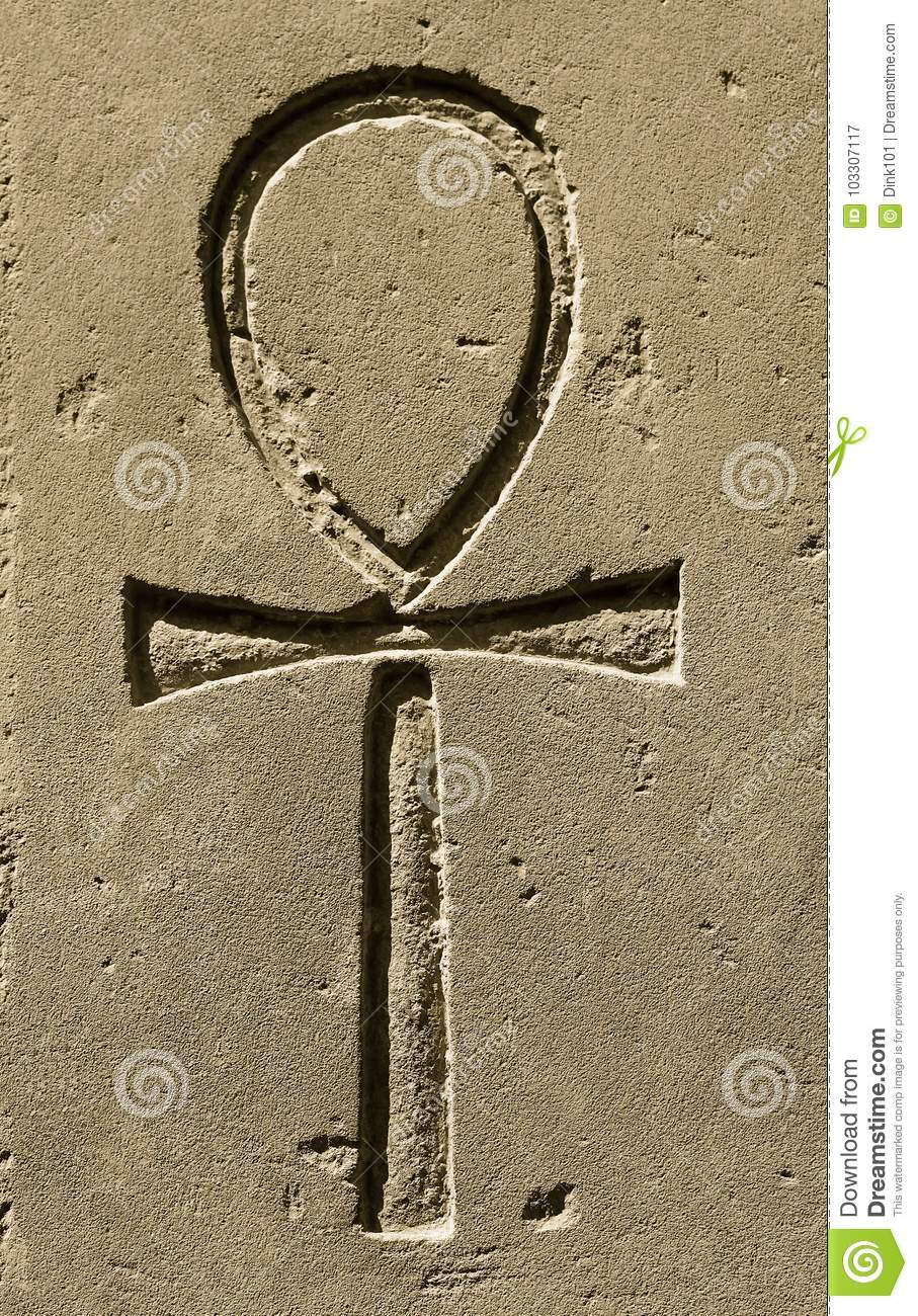 Ancient egypt symbol ankh carved on the stone stock image image royalty free stock photo biocorpaavc