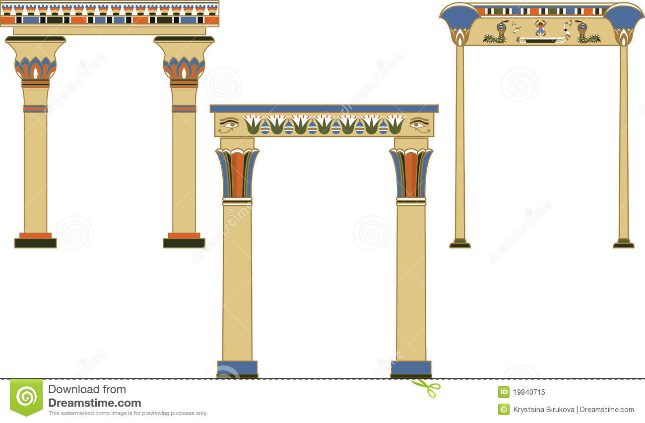 Ancient Egyptian Architecture Columns Ancient Egyptian Arches Set