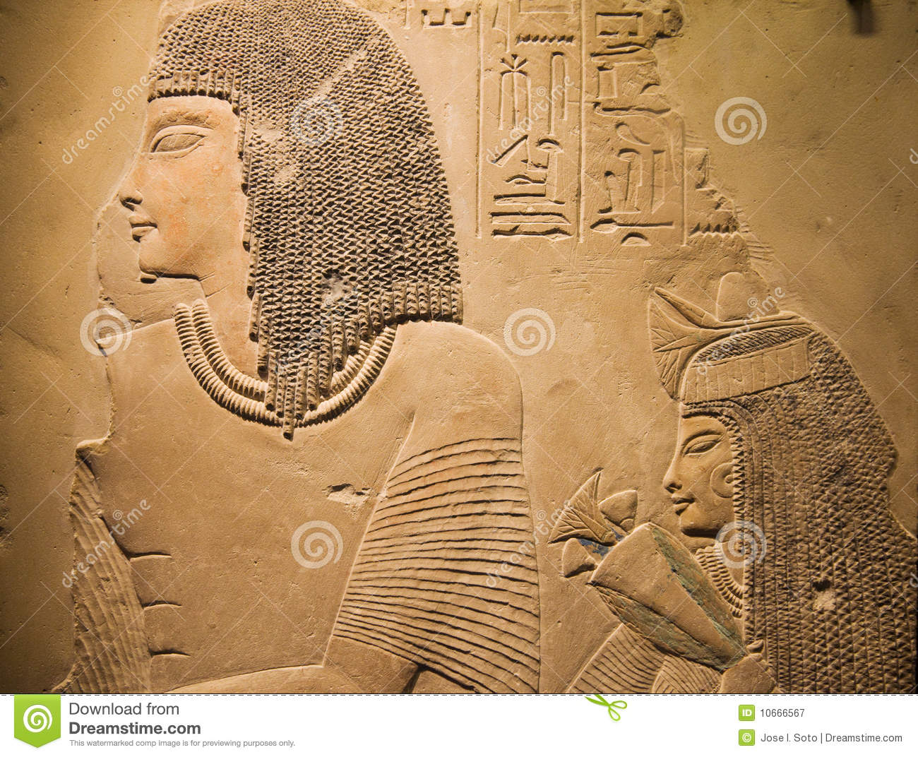 Ancient egyptian carving stock image of sculpture