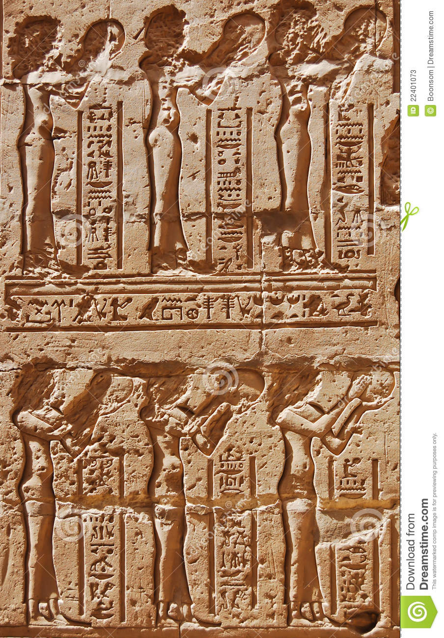 Ancient egyptian carving egypt stock photos image