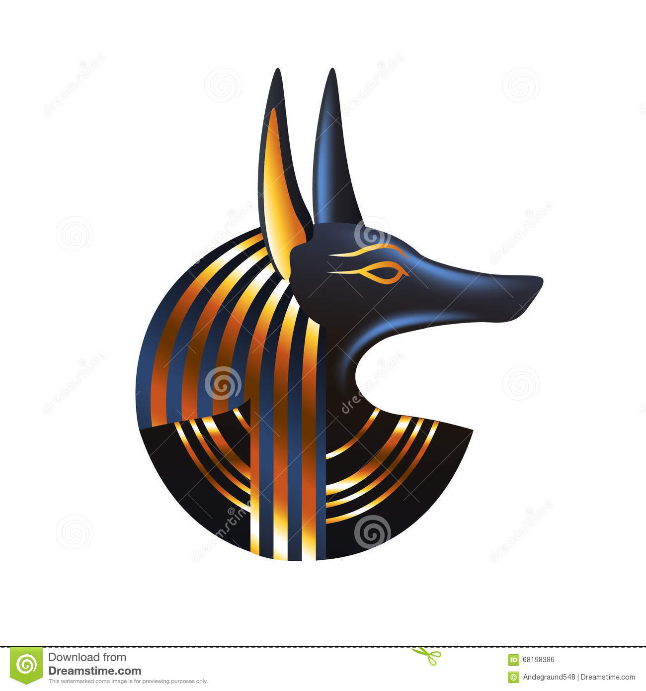 ancient egyptian god anubis isolated vector stock vector