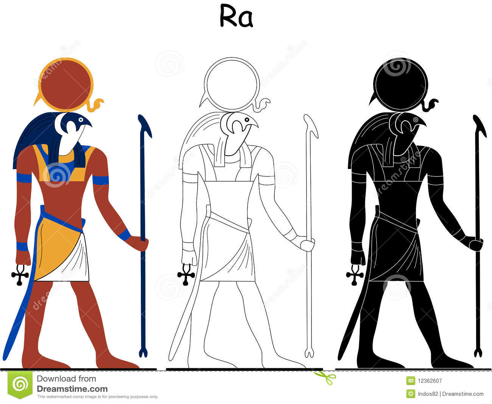 Ancient Egyptian God - Ra Royalty Free Stock Photography - Image ...