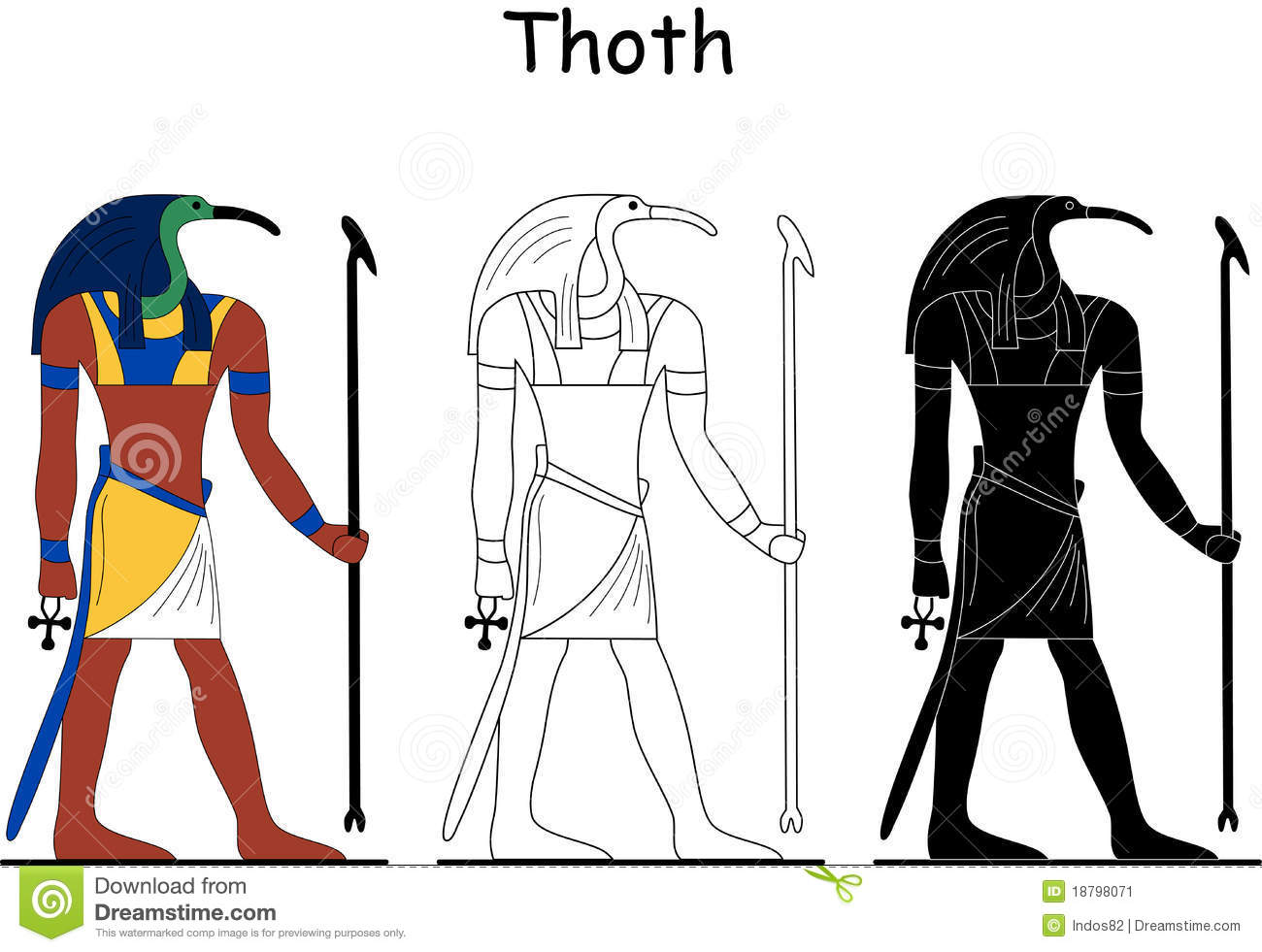 A unique statue of Egyptian God Thoth Thoth is the