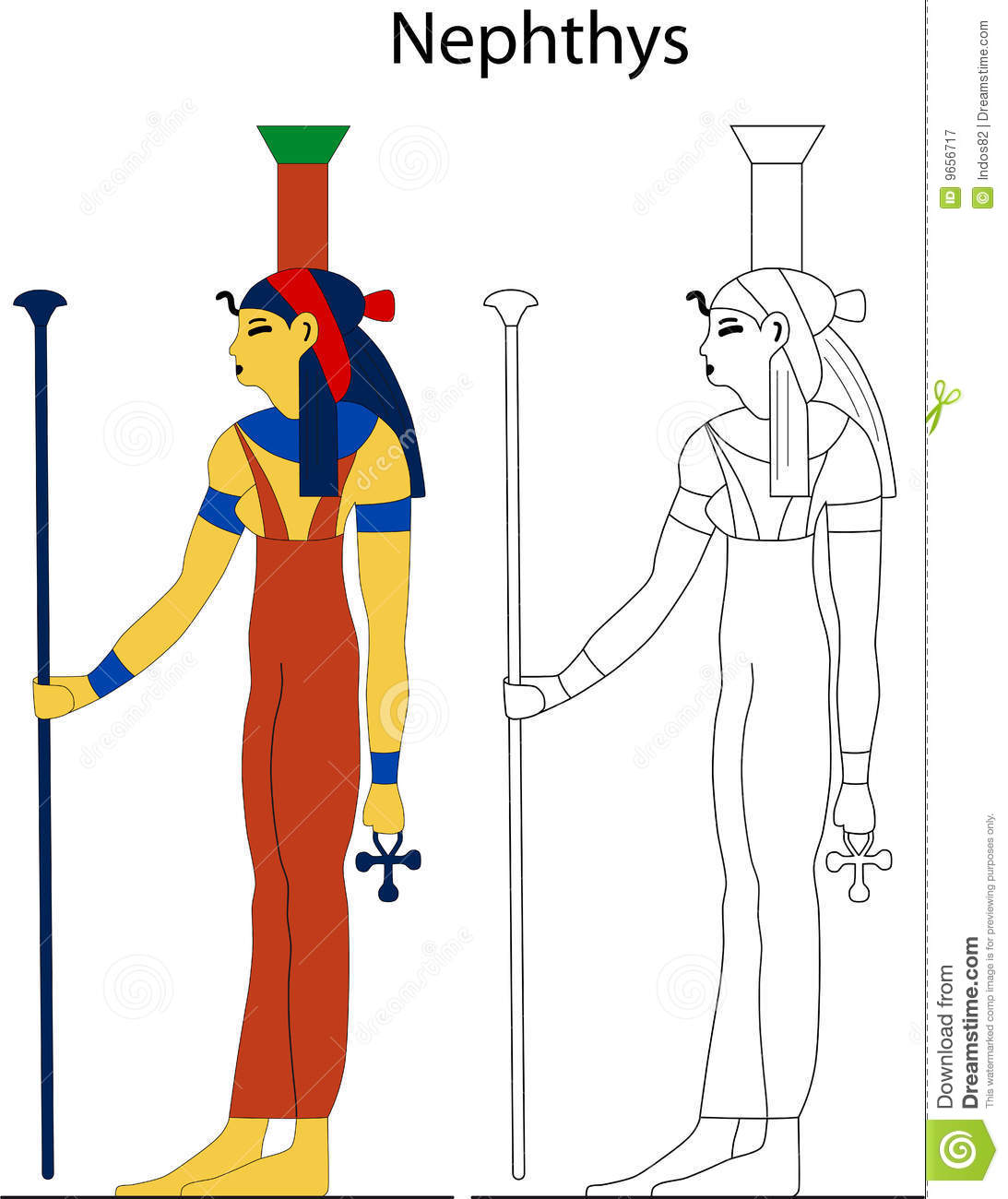 Ancient Egyptian Goddess - Nephthys Royalty Free Stock Photography ...