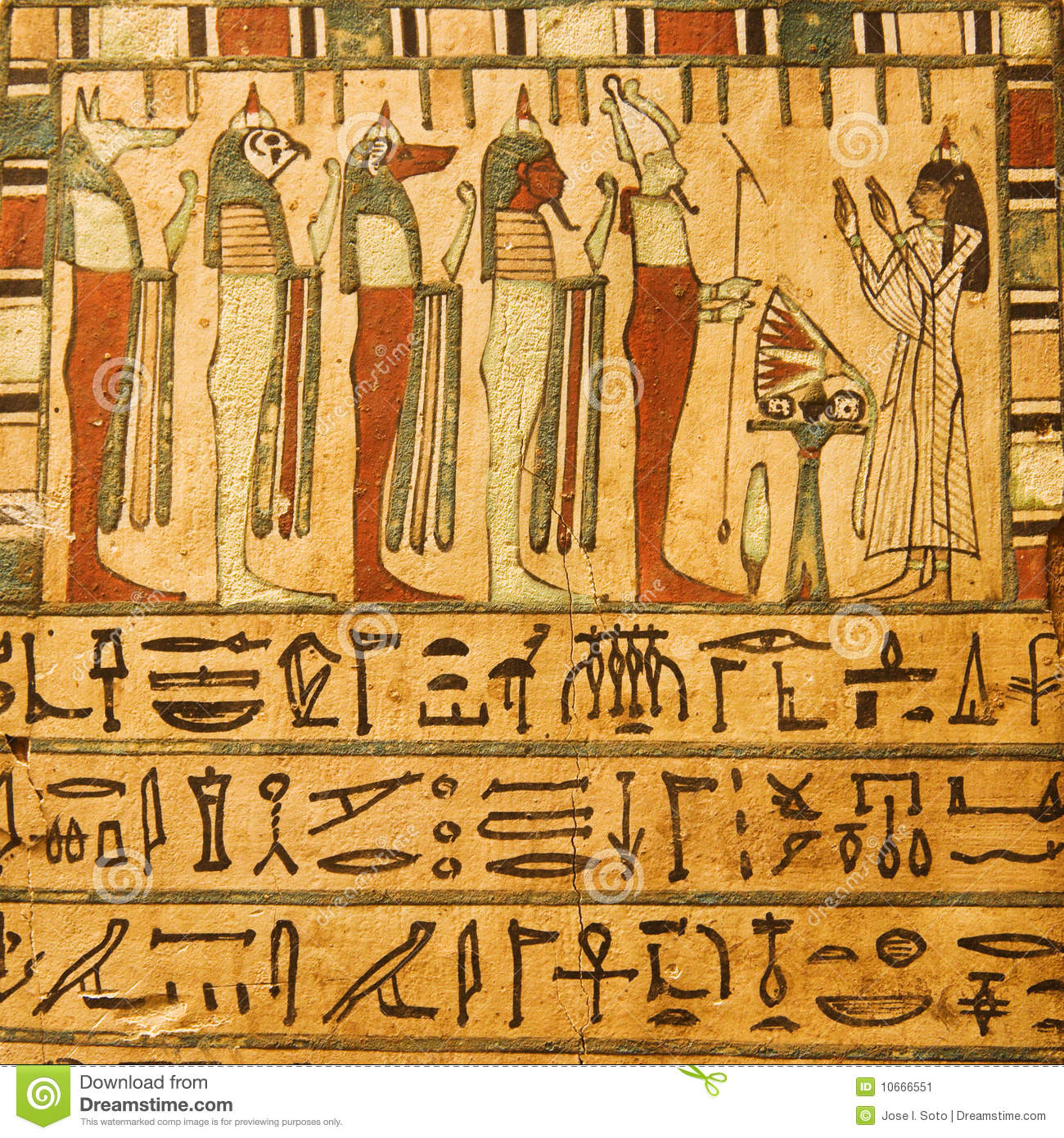 Egyptian Hieroglyphics Wall Art - ancient egyptian gods and ...