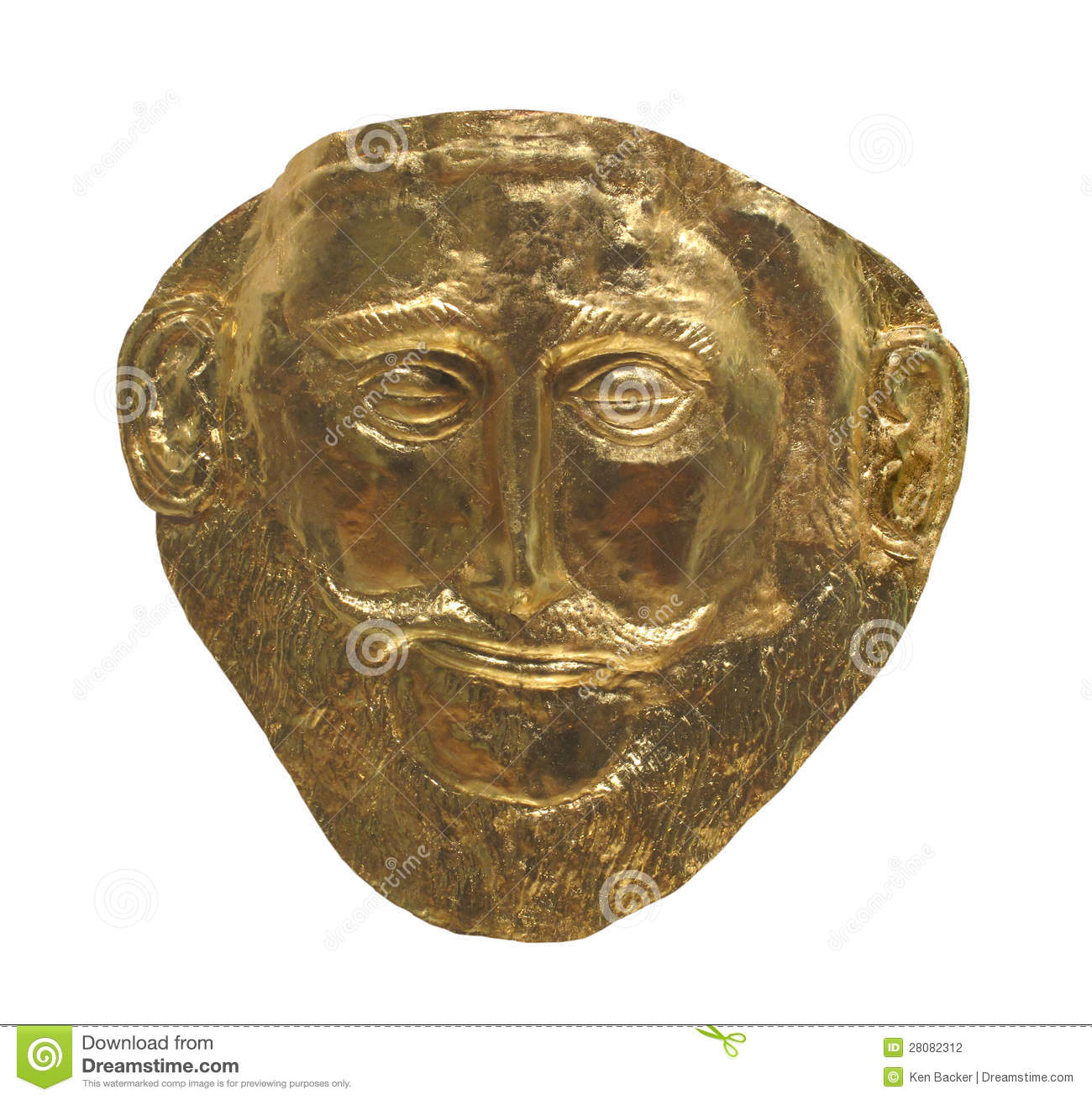 gold mask: