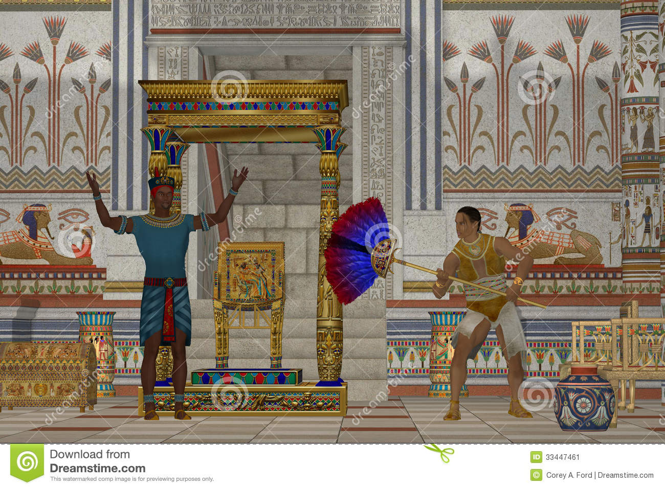 Ancient Egyptian Men Stock Image Image 33447461