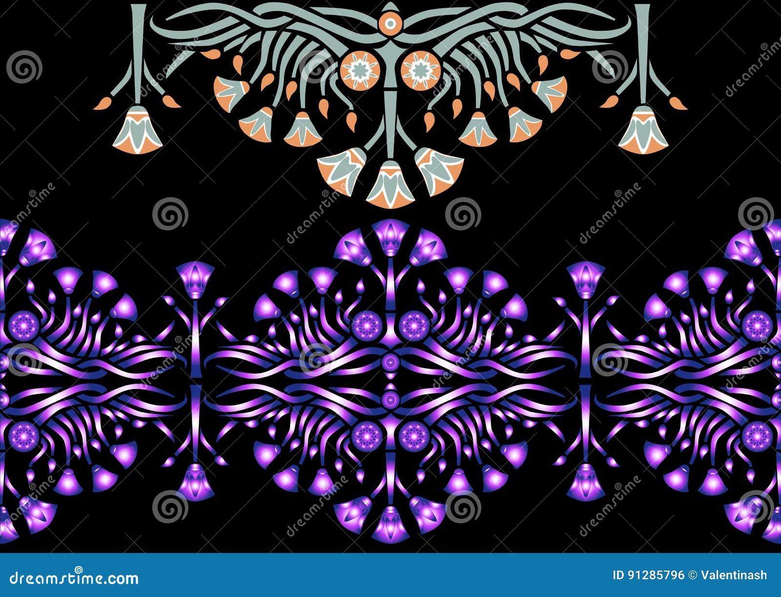 Ancient egyptian pattern with lotus stock vector illustration of ancient egyptian pattern with lotus izmirmasajfo