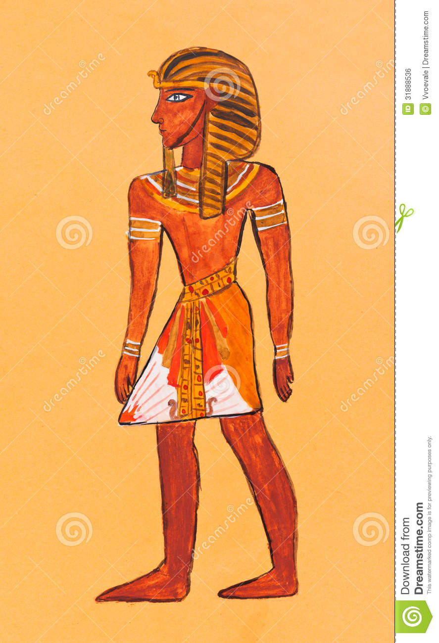 Historical costume - Ancient Egyptian Pharaoh in everyday clothes ...