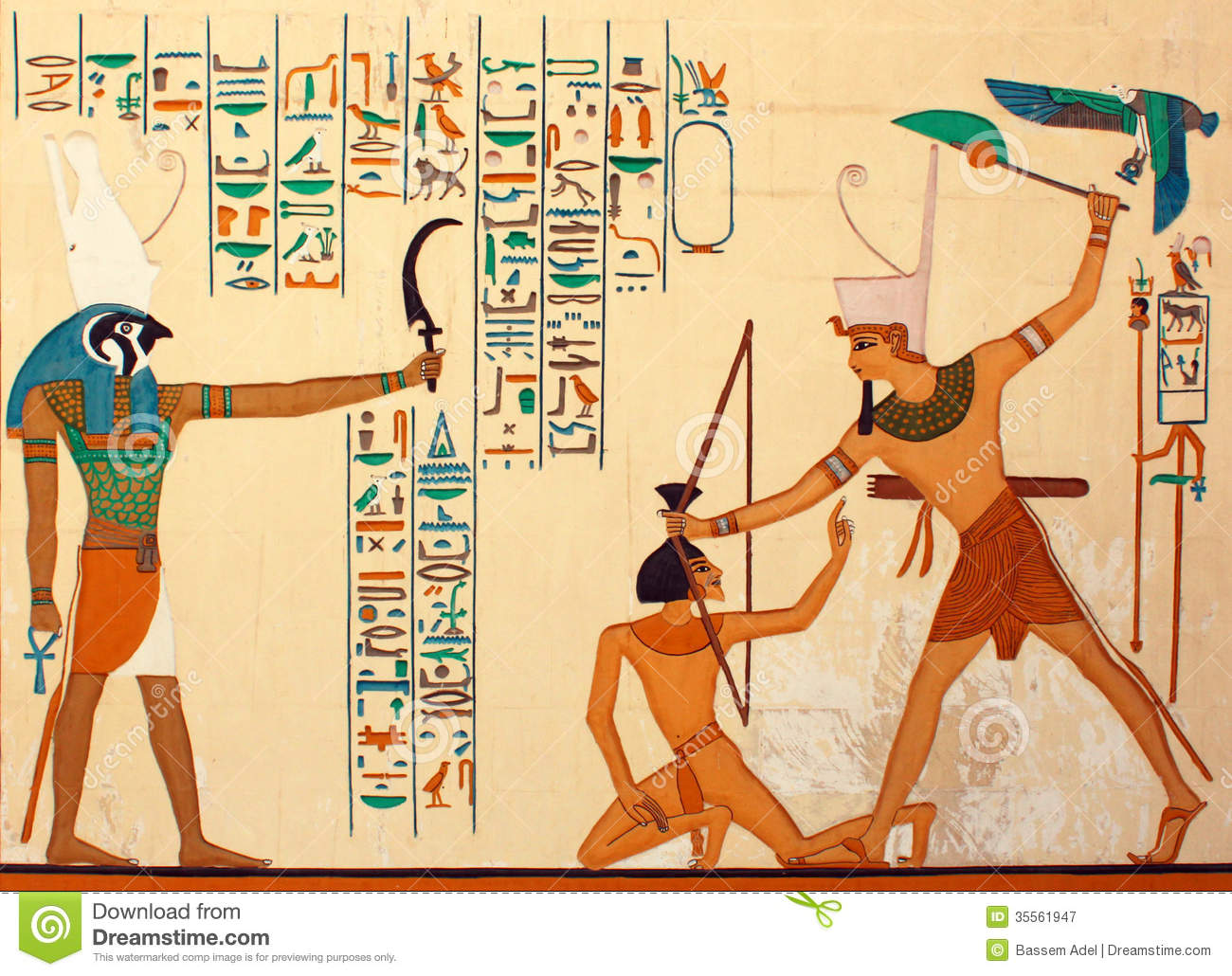 Ancient Egyptian Pharaonic Art Stock Image - Image of egyptian ...