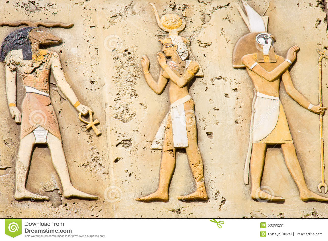 Ancient egyptian symbols stock photo image