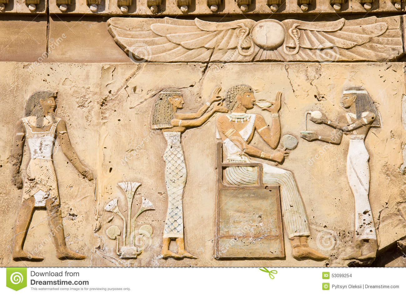 Ancient Stone Carvings : Ancient egyptian symbols stock photo image of surface