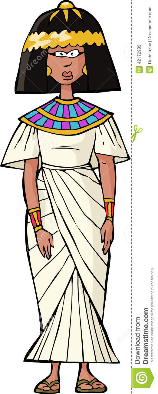 Ancient Egyptian woman stock vector. Image of past, white ...