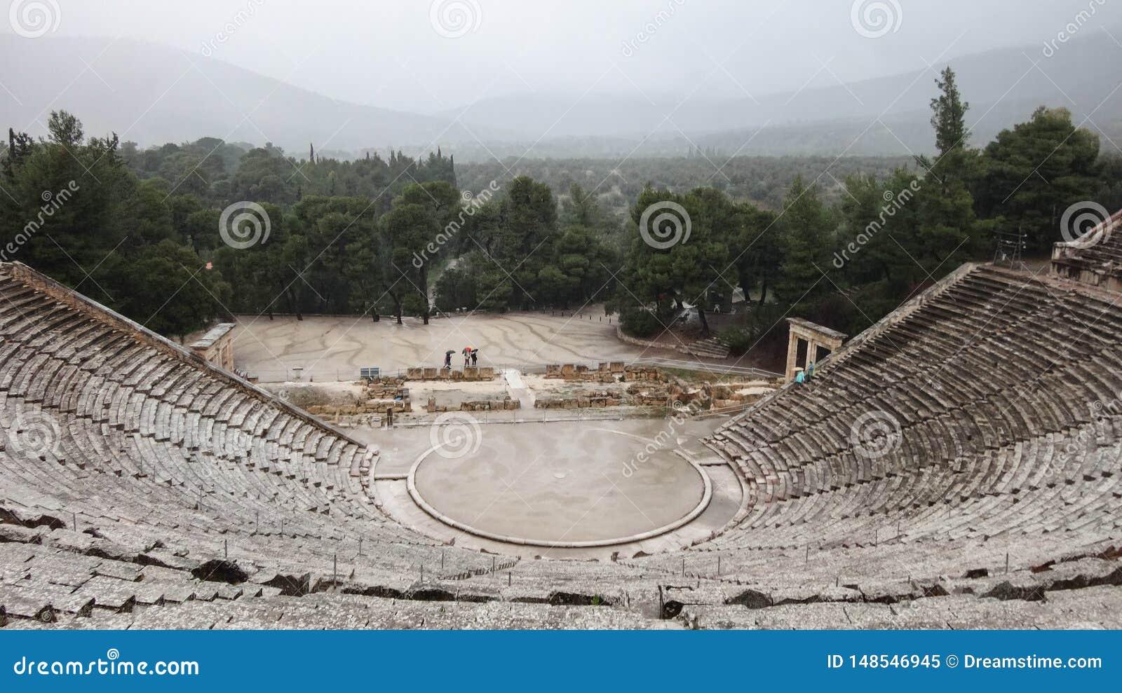 Ancient Epidauros theatre.