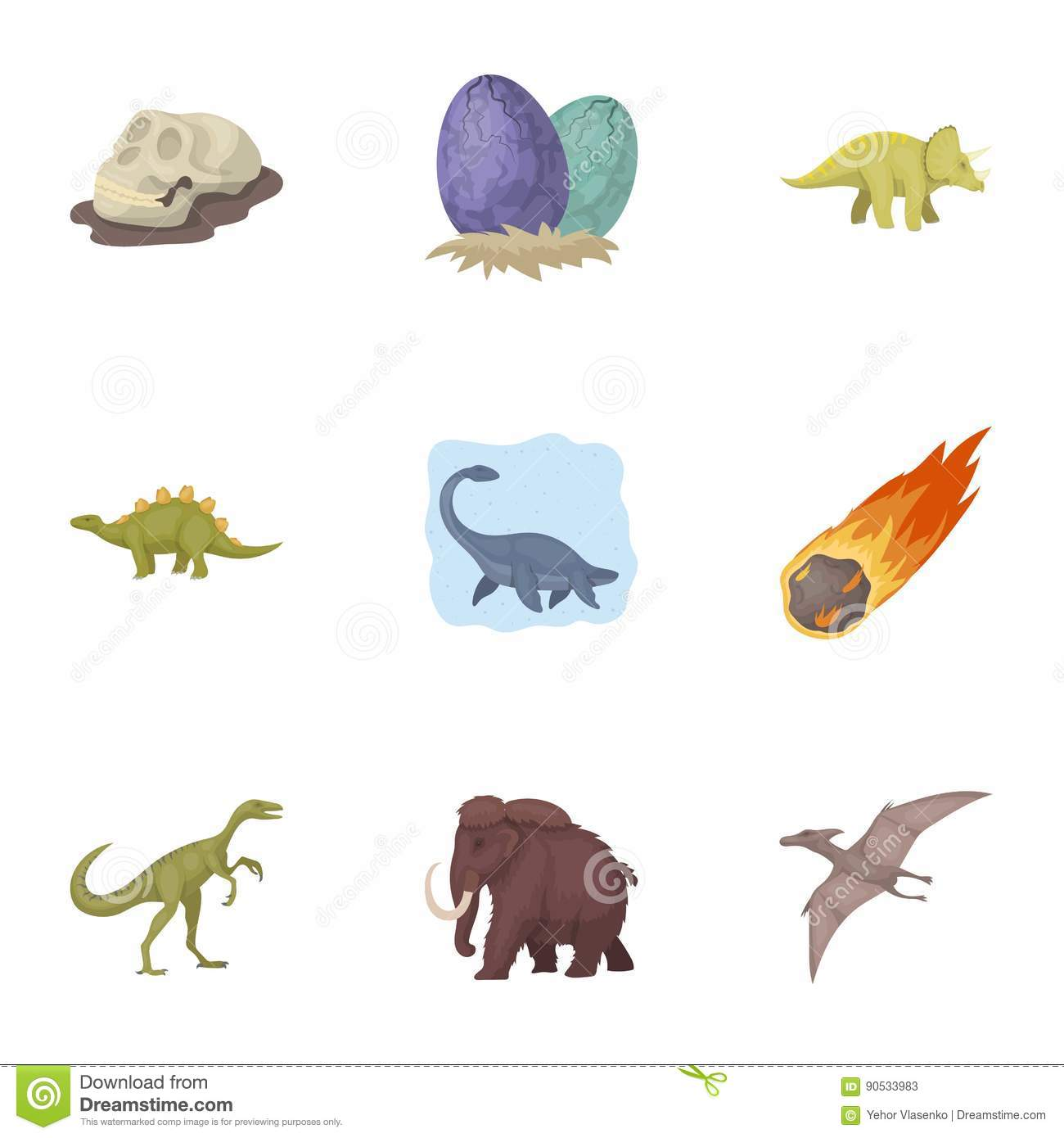 Image of: Glad Ancient Extinct Animals And Their Tracks And Remains Dinosaurs Tyrannosaurs Pnictosaursdinisaurs Dreamstimecom Ancient Extinct Animals And Their Tracks And Remains Dinosaurs