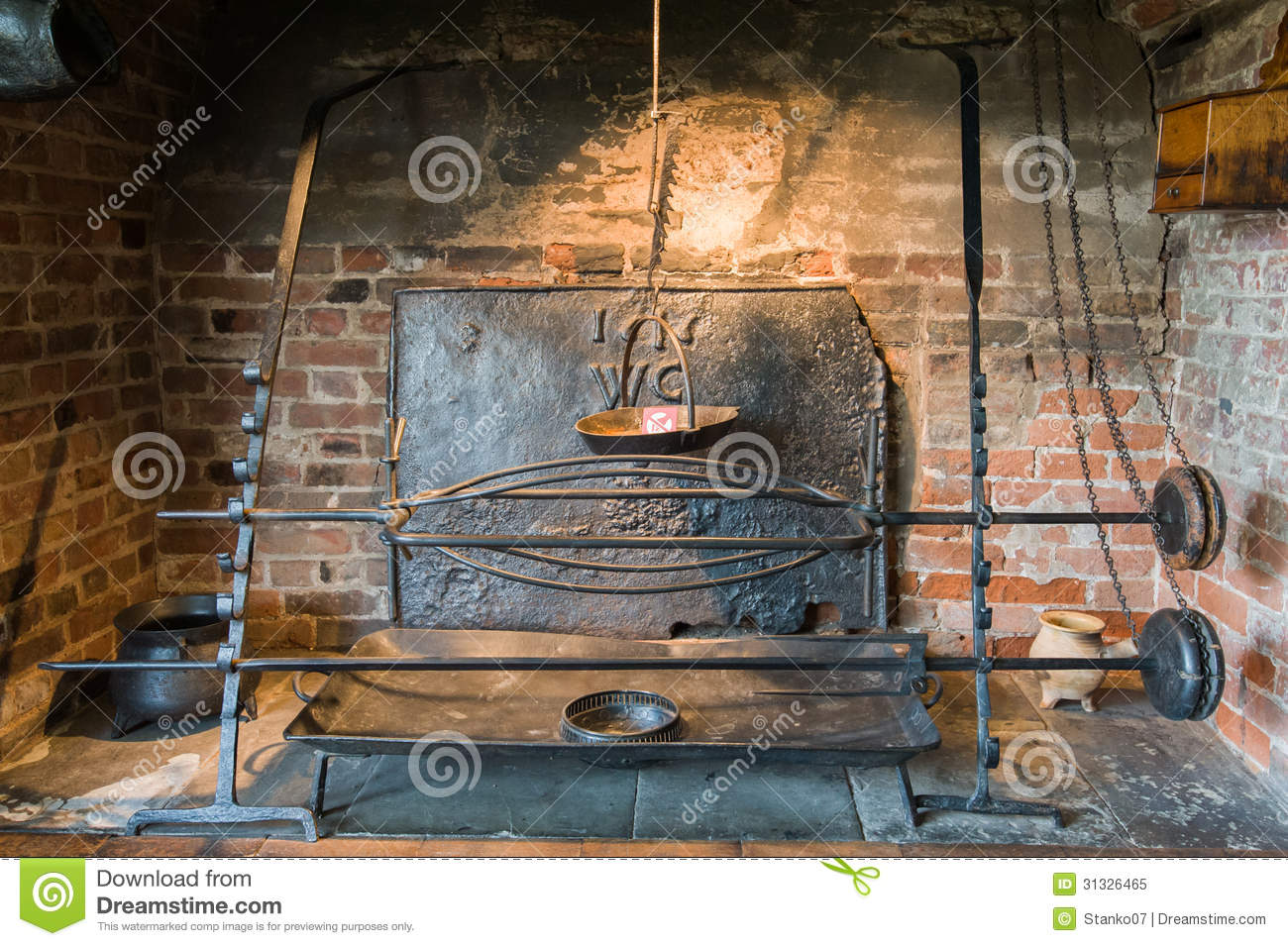 Ancient Fireplace Royalty Free Stock Photo - Image: 31326465