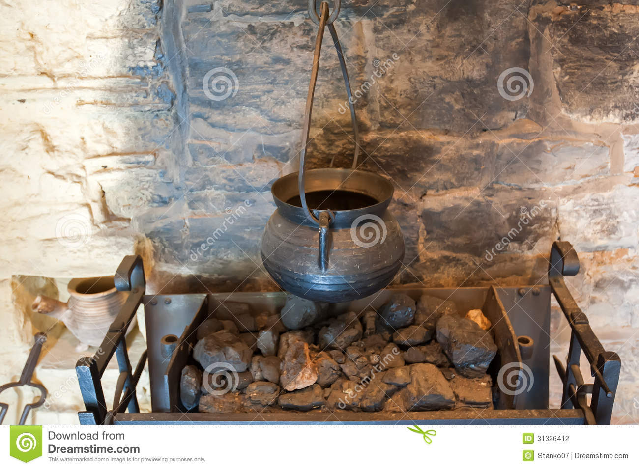 Ancient Fireplace Details Stock Photo Image Of Corner