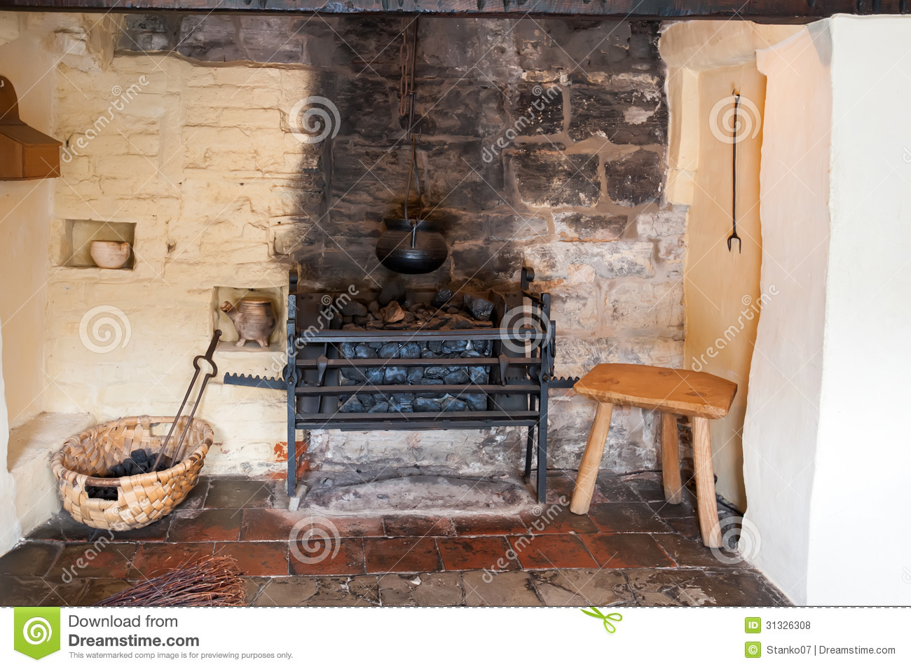 Ancient Fireplace Royalty Free Stock Photos Image 31326308