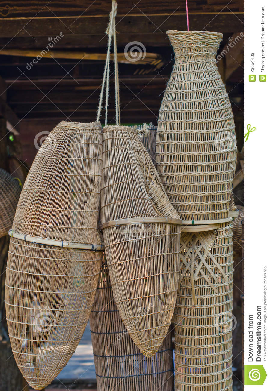 Ancient fishing equipment. stock image. Image of ancient ...