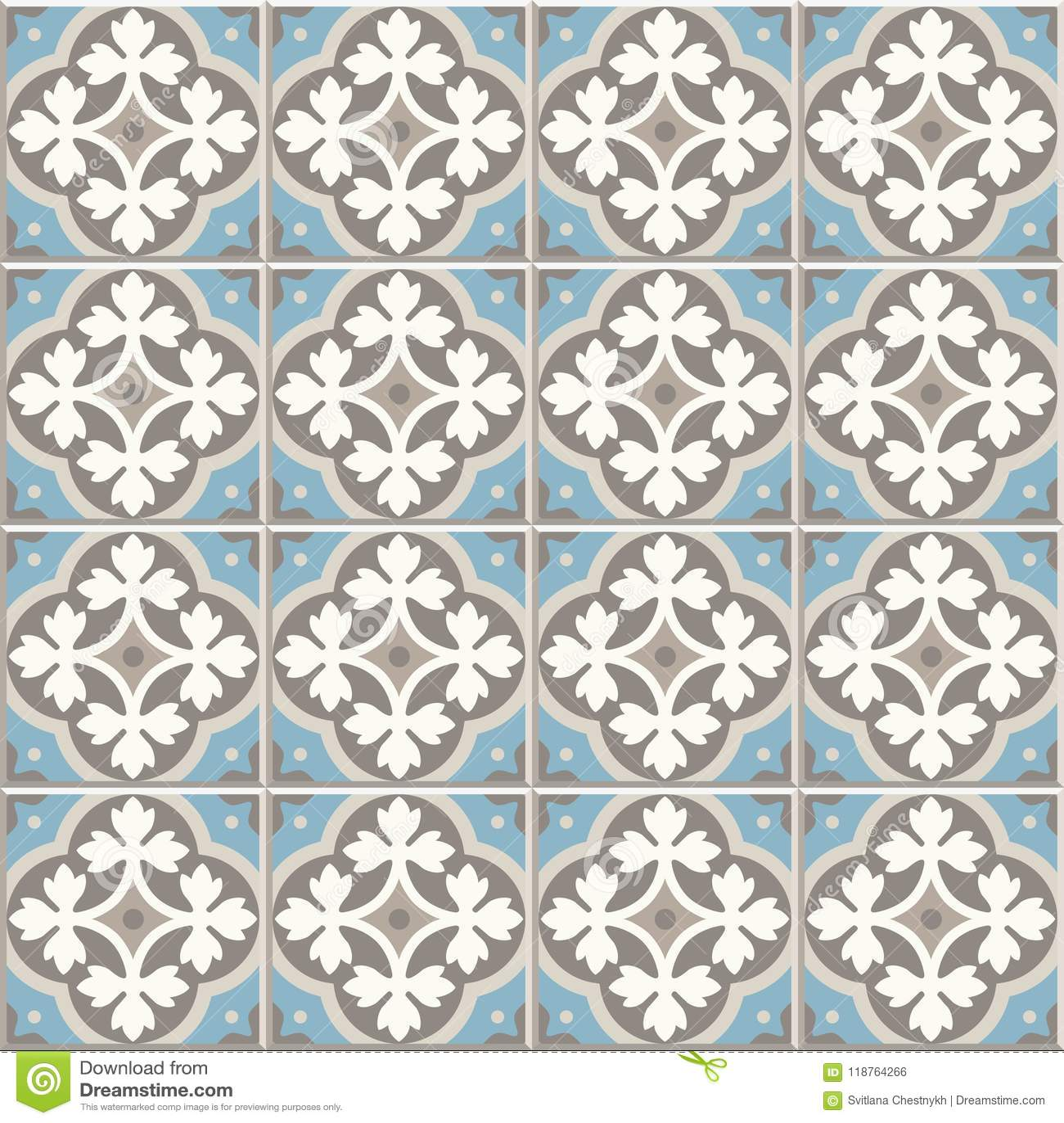 Ancient Floor Ceramic Tiles. Victorian English Floor Tiling Design ...