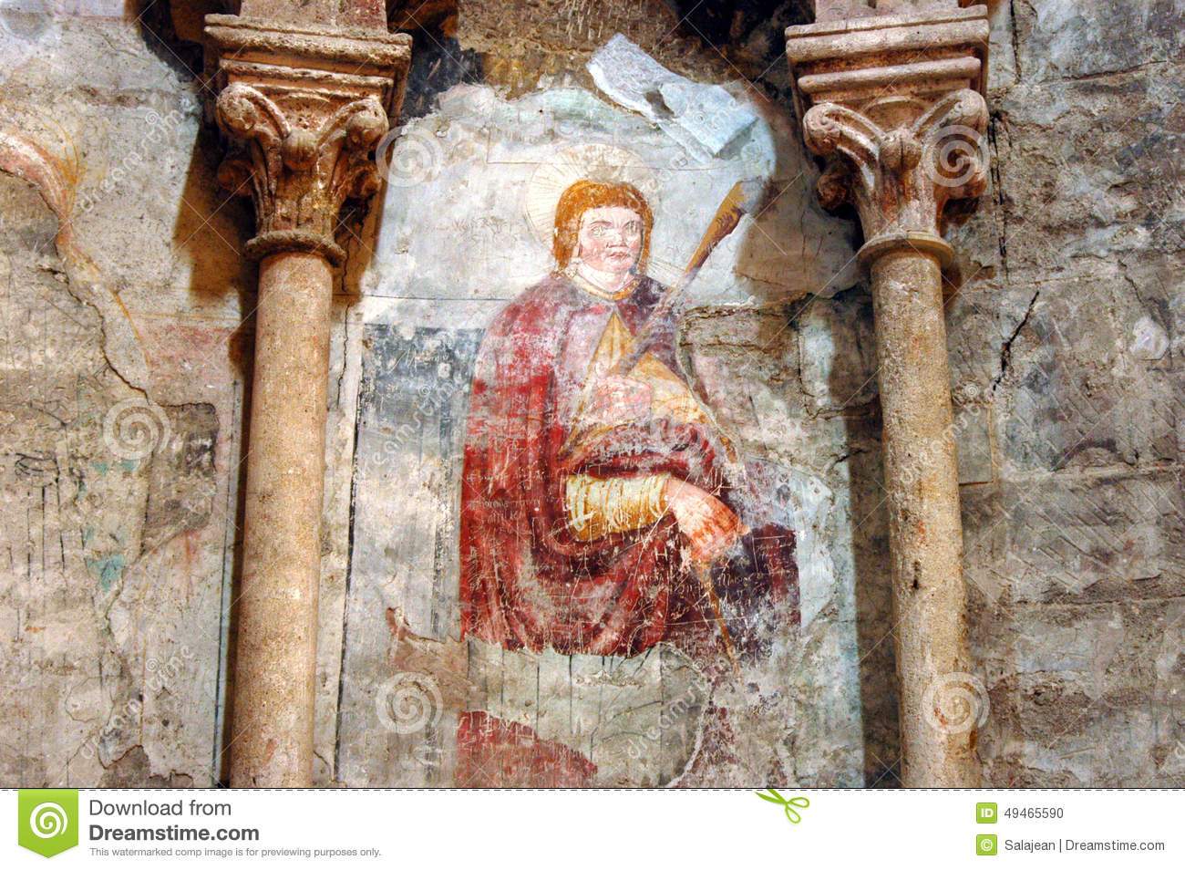 Ancient mural fresco in romania stock photography for Clarks mural fresco