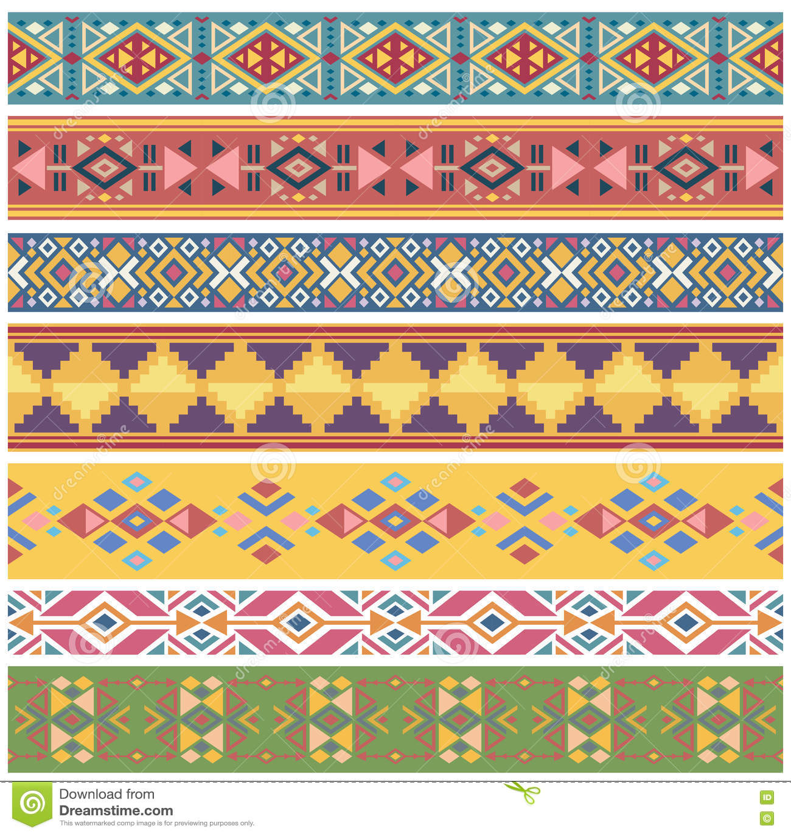 ancient geometric native american tribal graphics vector seamless
