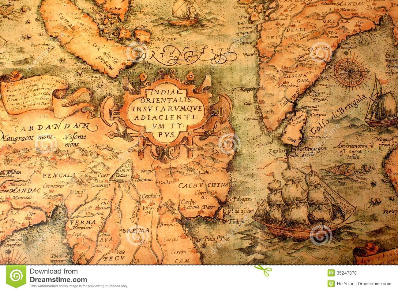Ancient global map stock photo image of world illustration 35247878 ancient global map gumiabroncs Gallery