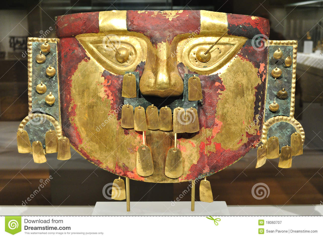Ancient Gold Inca Mask Editorial Photography Image 18060707
