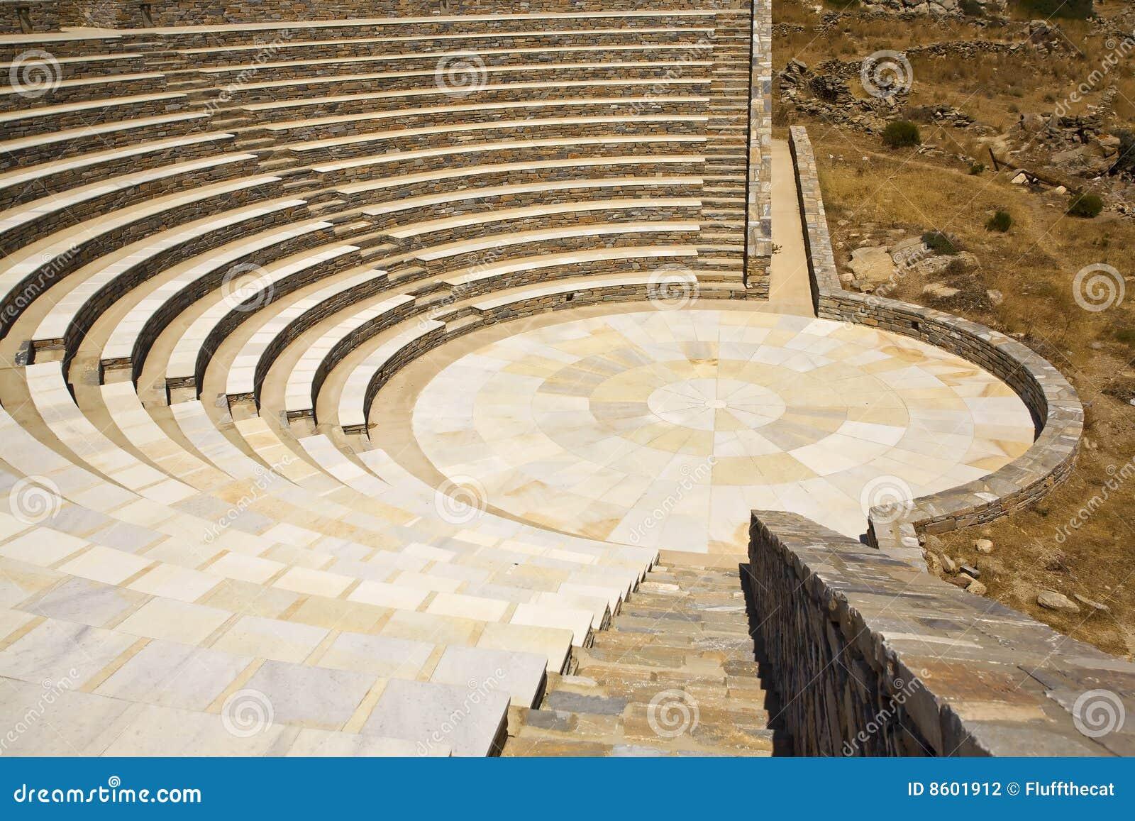 Ancient Greek Amphitheater, Greece Stock Photography - Image: 8601912 Empty Brick Wall