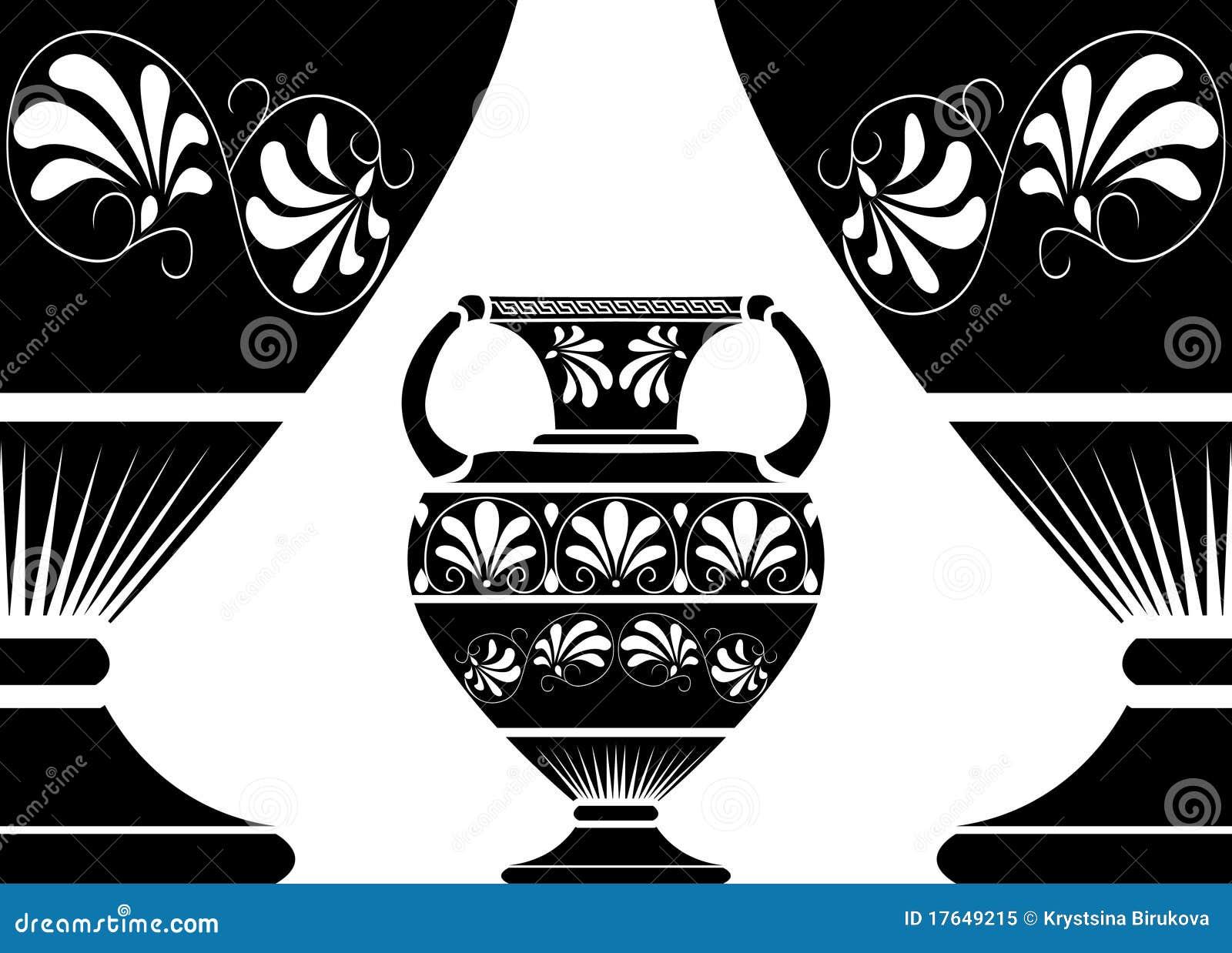 Ancient greek amphora stock vector illustration of greece 17649215 ancient greek amphora reviewsmspy