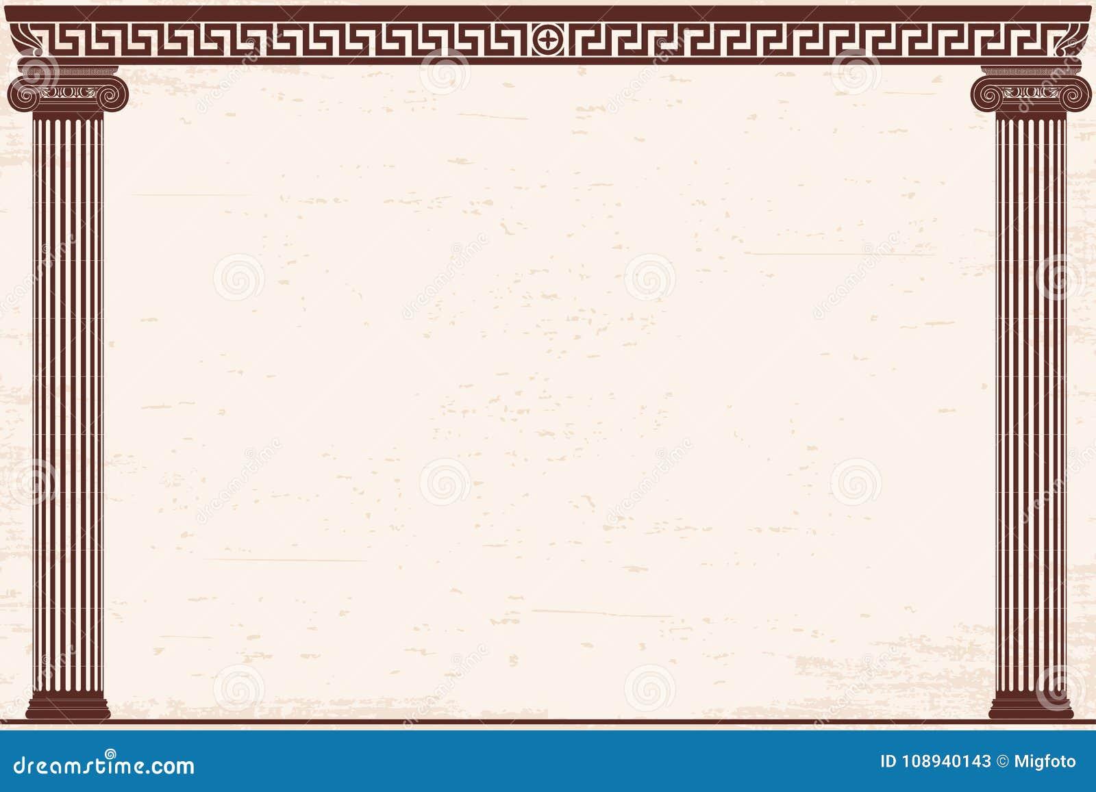 Ancient Greece gold white wallpaper - scrummy - Spoonflower   Ancient Greece Wallpaper Designs