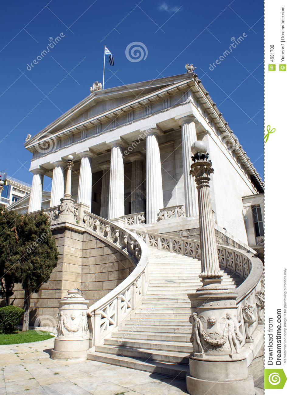 Ancient Greek Building In Athens Stock Photo - Image: 4631702 Greek Columns Vector