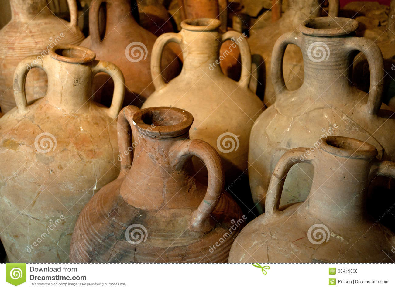 Ancient Greek Clay Amphora Royalty Free Stock Photos Image 30419068
