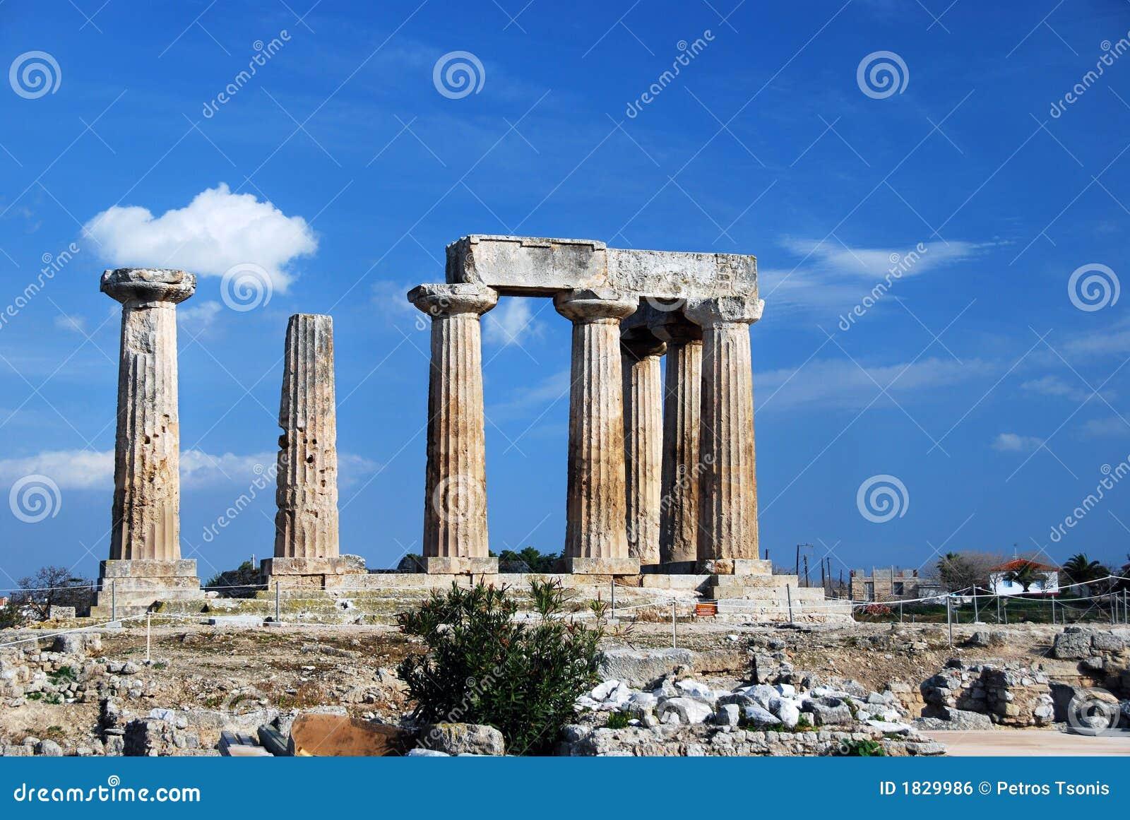 Ancient Greek Columns Royalty Free Stock Image - Image ...