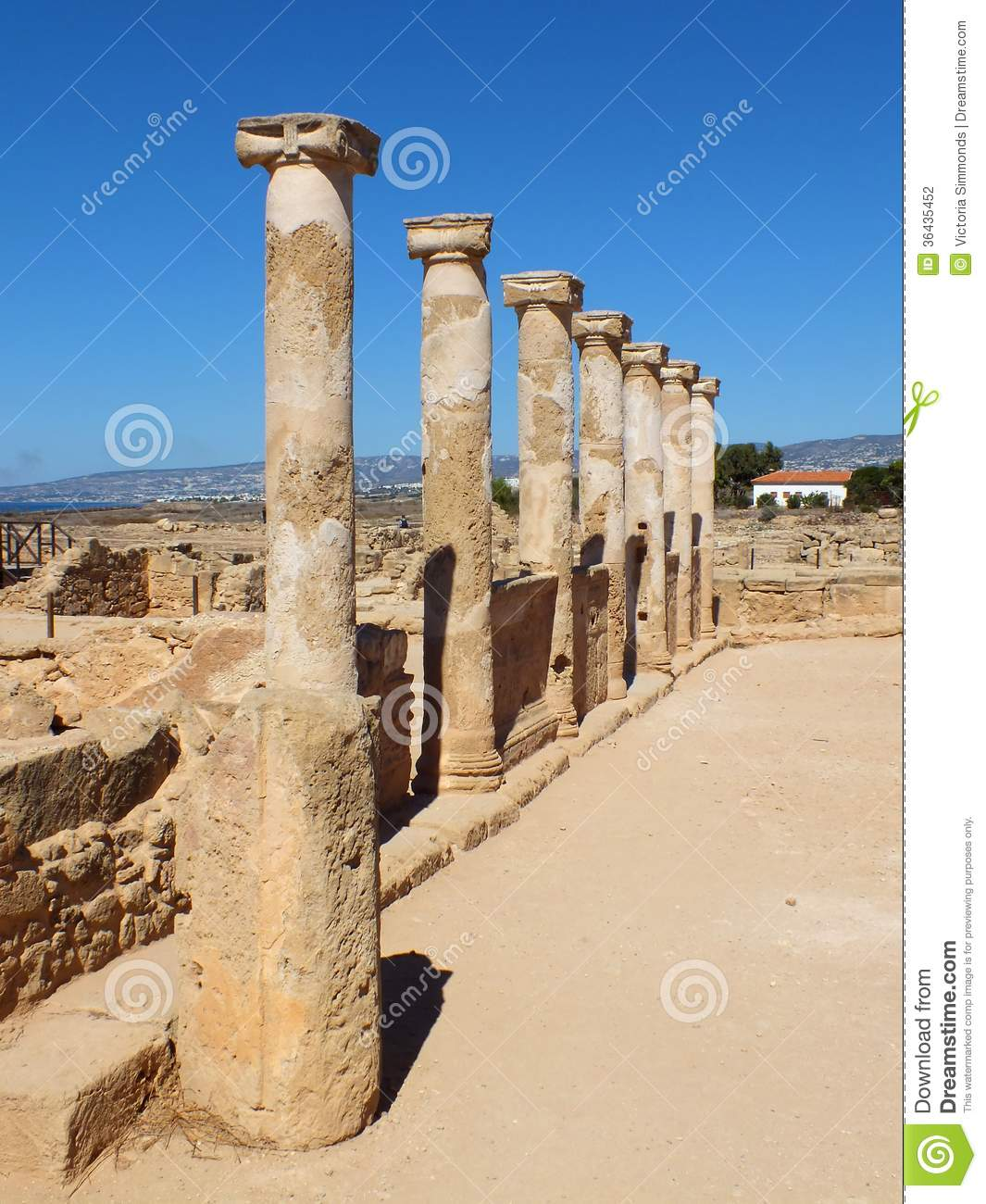 Ancient Greek Columns Editorial Photography - Image: 36435452