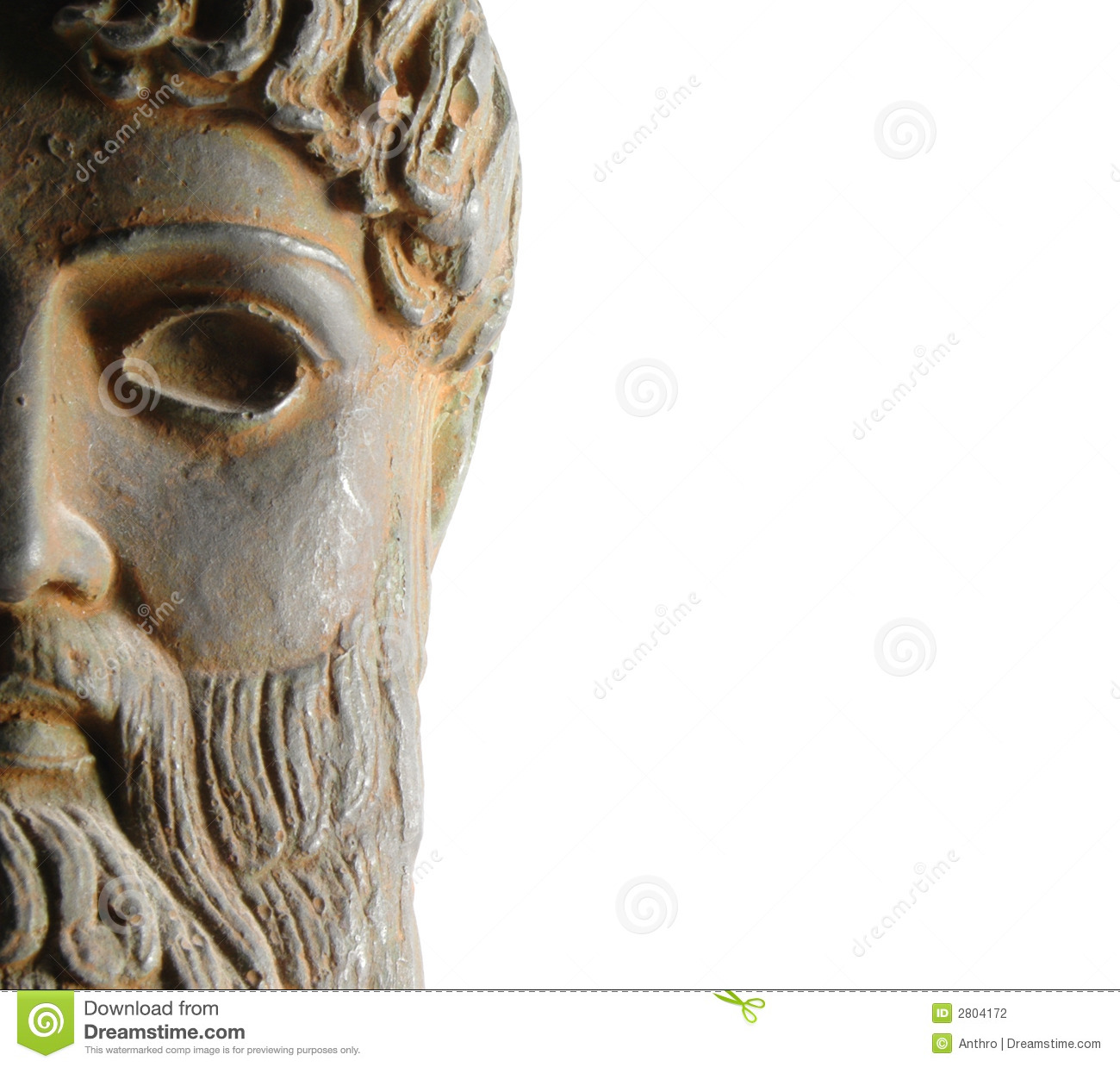 Ancient Greek God Statue Stock Photography Image 2804172
