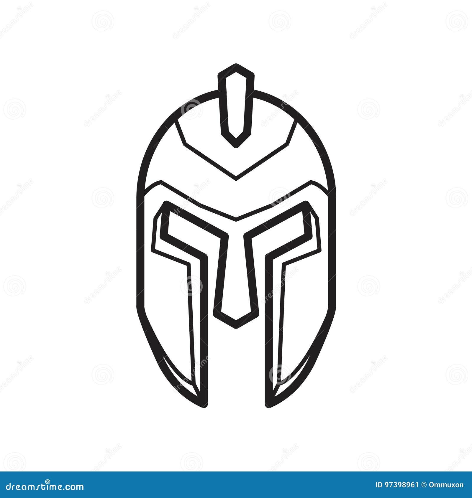 Ancient Greek Helmet Stock Vector Illustration Of Defeat 97398961