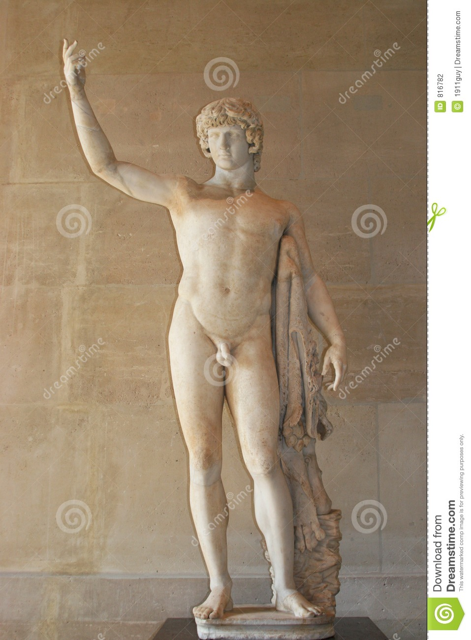 greek male statue