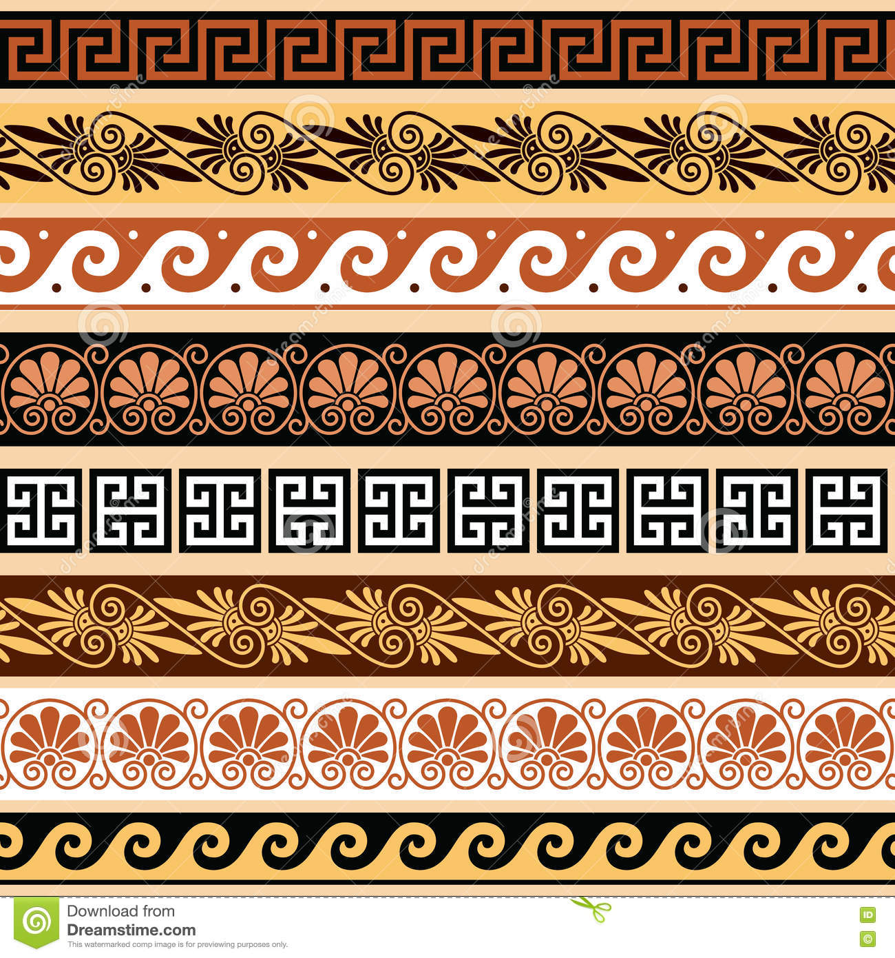 Ancient greek pattern seamless set of antique borders from ancient greek pattern seamless set of antique borders from greece reviewsmspy