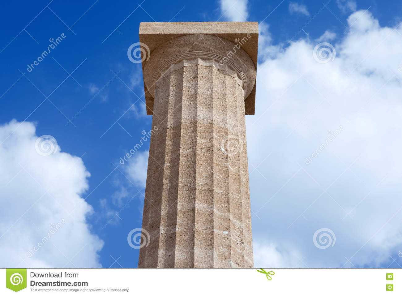 Ancient Greek Pillar Stock Photo - Image: 79283398
