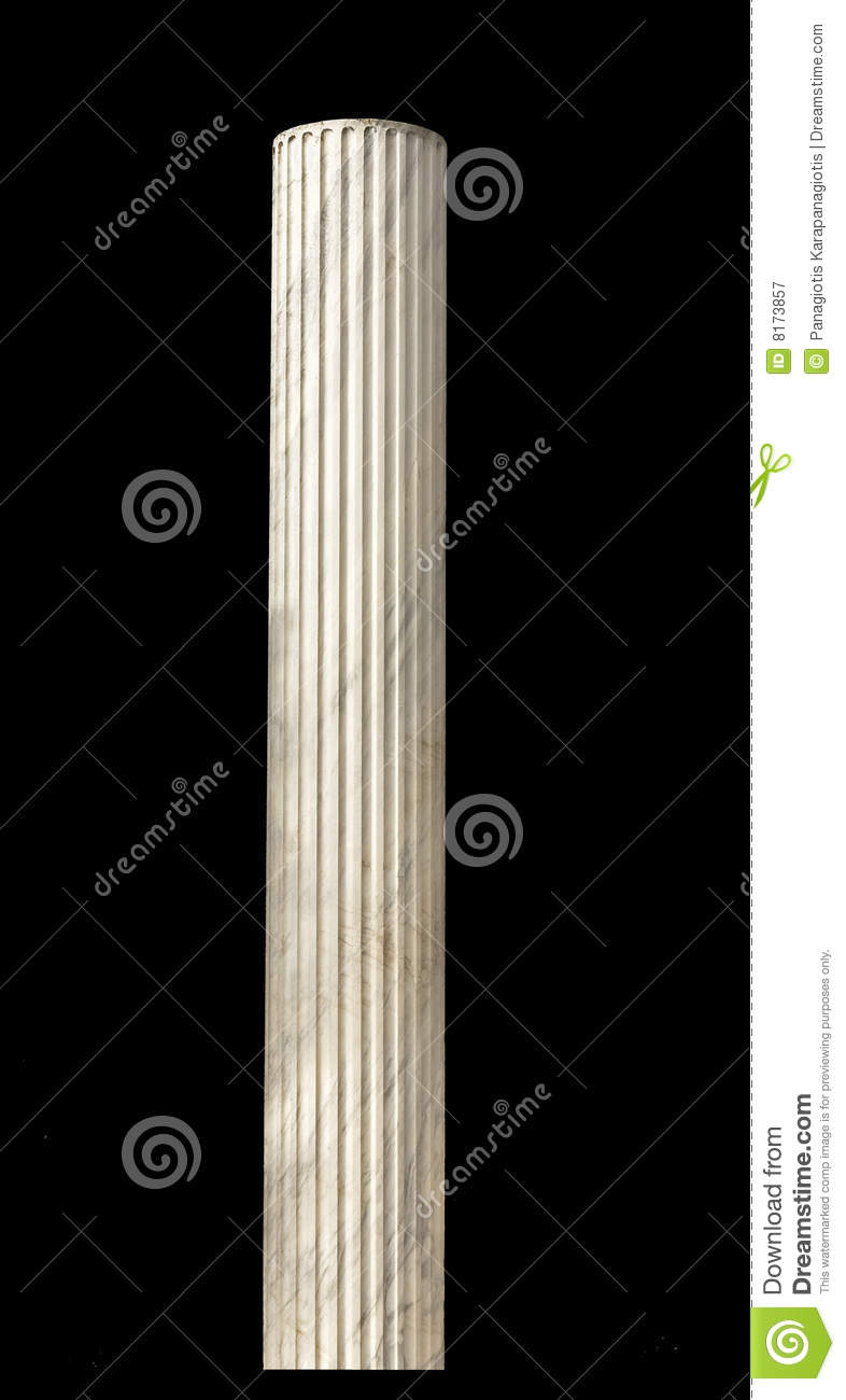Ancient Greek Pillar Isolated Royalty Free Stock ...