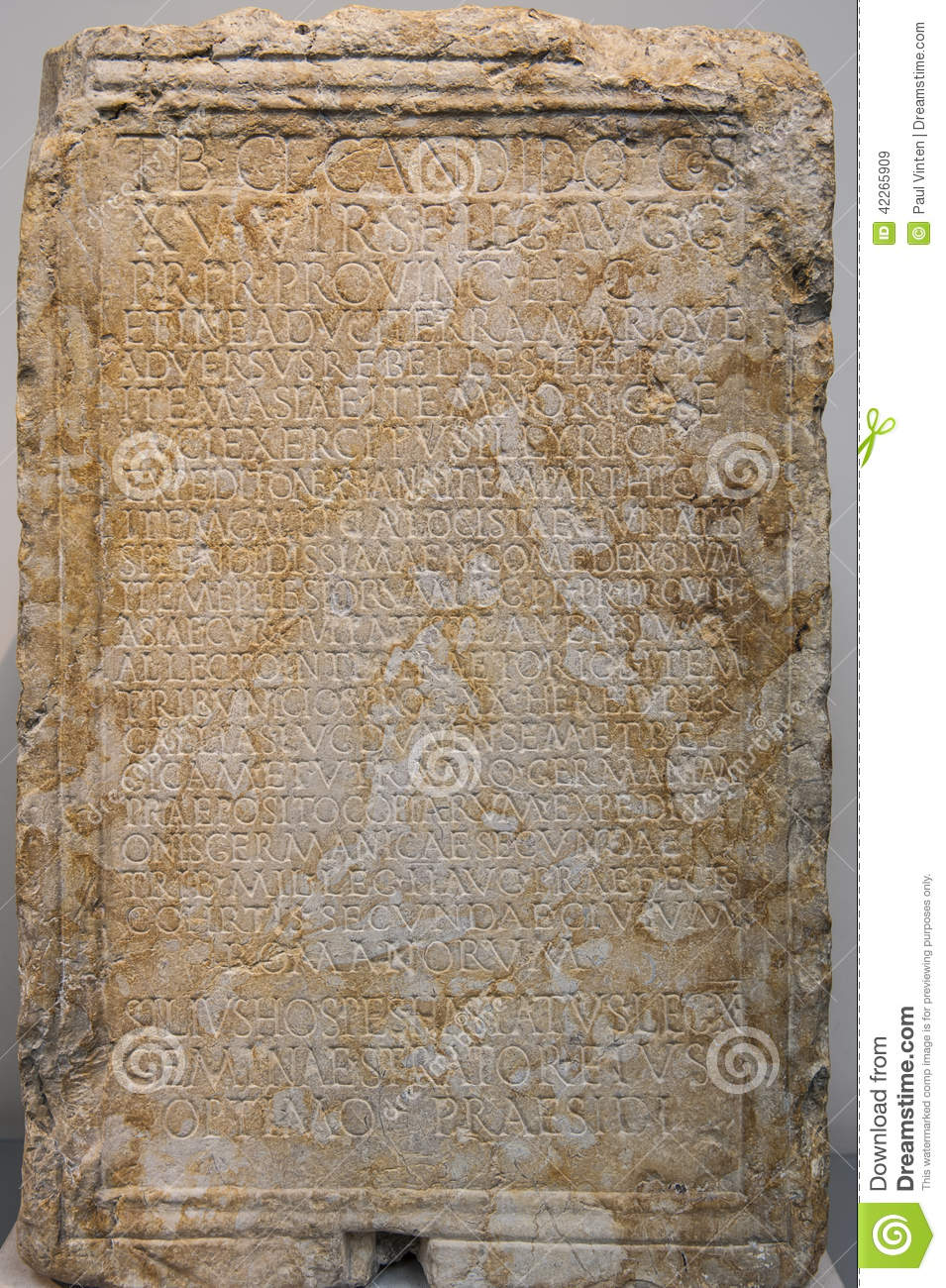 Ancient 10 Card Tarot Spread Mat: Ancient Greek Stone Tablet Stock Image. Image Of