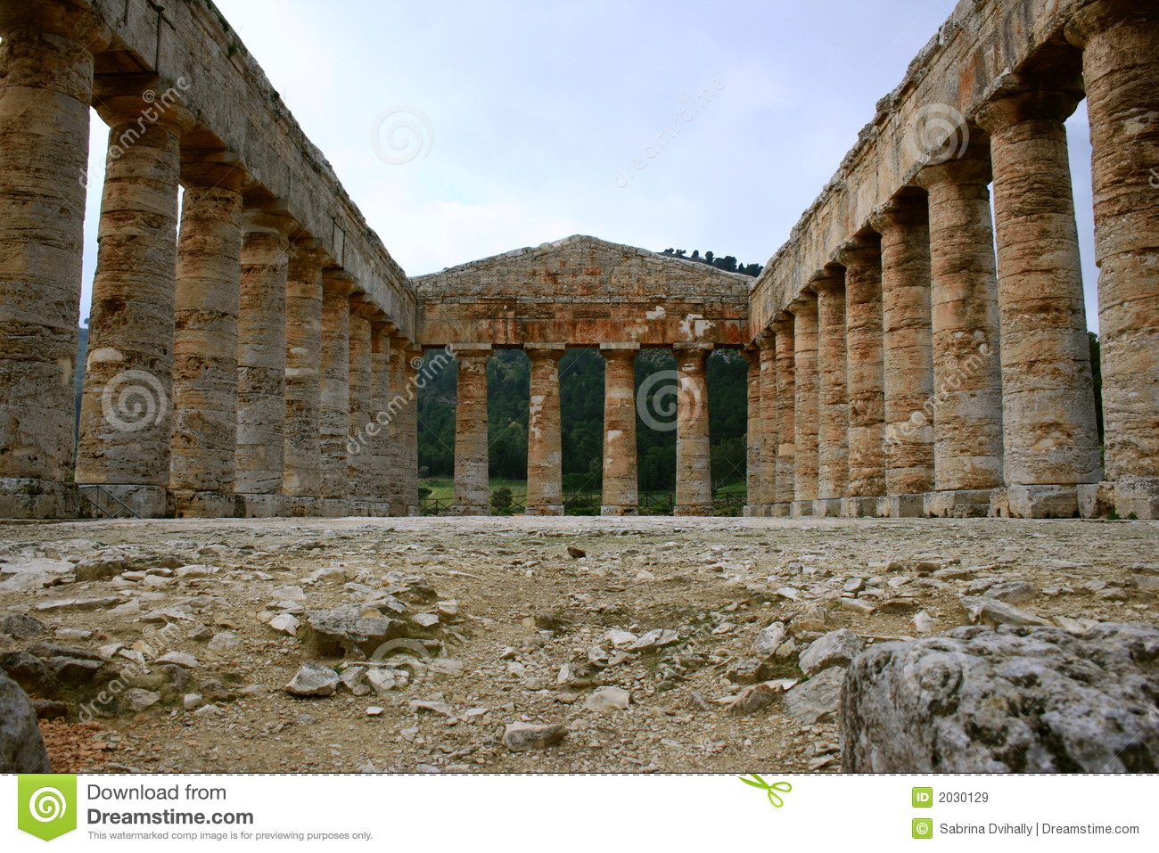 Ancient Greek Temple Segesta Royalty Free Stock Images Image