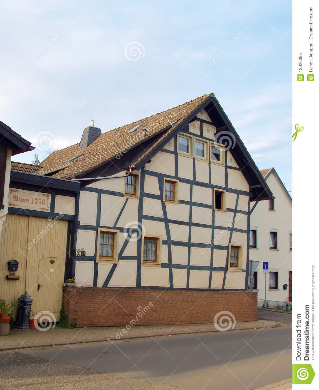Ancient half timbered house in germany royalty free stock for Half timbered house plans
