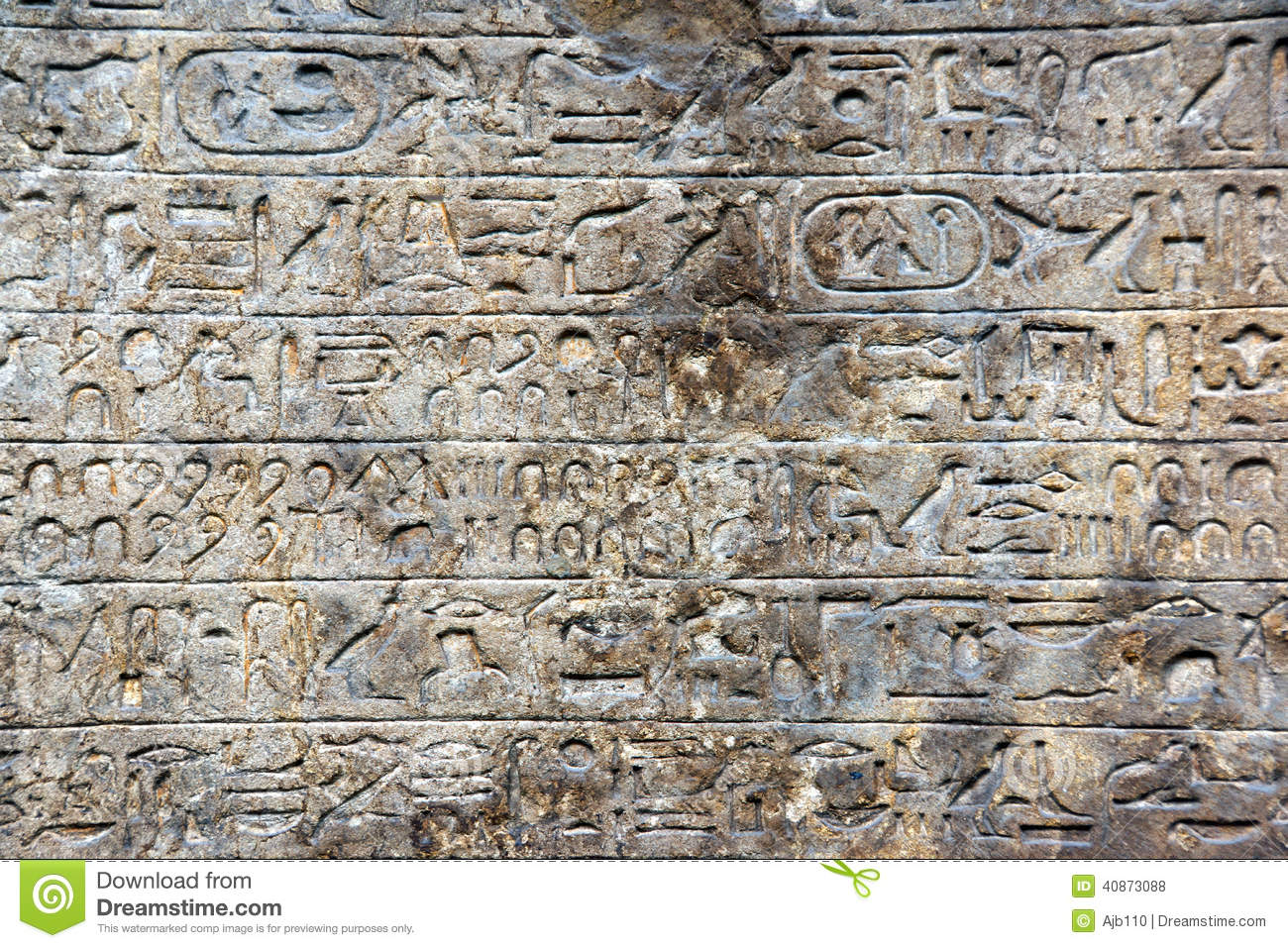 Ancient egyptian hieroglyph carvings stock photo image