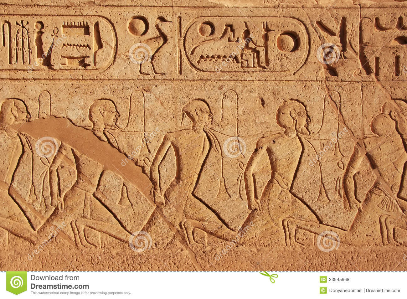 Ancient Hieroglyphics On The Wall Of Great Temple Of Abu
