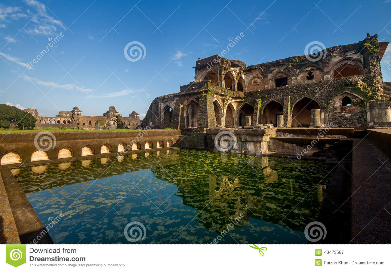 Ancient Historic Indian Architecture Stock Image - Image of mahal